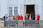 16-04-2014 Balcony 74th birthday of the Danish Queen at Marselisborg Castle in Aarhus.<br />