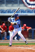Charlotte Stone Crabs first baseman Grant Kay (2) at bat during a game against the Palm Beach Cardinals on April 10, 2016 at Charlotte Sports Park in Port Charlotte, Florida.  Palm Beach defeated Charlotte 4-1.  (Mike Janes/Four Seam Images)