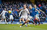 Philippe Senderos can't get the ball on target in front of goal
