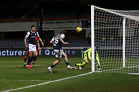 27th March 2021; Dens Park, Dundee, Scotland; Scottish Championship Football, Dundee FC versus Dunfermline; Unmarked Jason Cummings of Dundee scores for 2-1 in the 29th minute