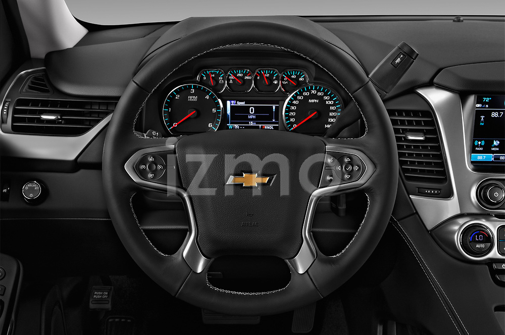 Car pictures of steering wheel view of a 2018 Chevrolet Suburban LS 5 Door SUV Steering Wheel