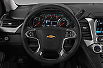 Car pictures of steering wheel view of a 2018 Chevrolet Suburban LS 5 Door SUV Steering Wheel