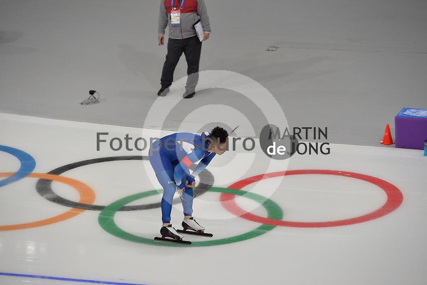 OLYMPIC GAMES: PYEONGCHANG: 19-02-2018, Gangneung Oval, Long Track, 500m Men, Mo Tae-Bum (KOR), ©photo Martin de Jong