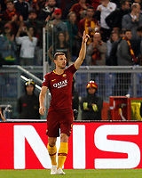 Roma's Edin Dzeko celebrates after scoring during the Champions League football match between Roma and Viktoria Plzen at Rome's Olympic stadium, October 2, 2018.<br /> UPDATE IMAGES PRESS/Riccardo De Luca