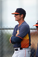 Houston Astros coach Doug White during an instructional league game against the Atlanta Braves on October 1, 2015 at the Osceola County Complex in Kissimmee, Florida.  (Mike Janes/Four Seam Images)