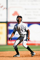 Juan Pierre of the Colorado Rockies organization plays in a California Fall League game at The Epicenter circa October 1999 in Rancho Cucamonga, California. (Larry Goren/Four Seam Images)