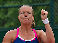 Paris, France, 28 June, 2016, Tennis, Roland Garros, Kiki Bertens (NED) shows emotion<br /> Photo: Henk Koster/tennisimages.com