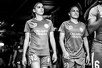 Orlando, FL - Saturday August 25, 2018:  Alex Morgan, Monica Hickman Alves, Orlando Pride vs Chicago Red Stars at Orlando City Stadium.