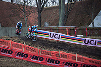 Ryan Cortjens (BEL), WItse Meeusen (BEL)<br /> <br /> Men's junior race<br /> <br /> UCI 2019 Cyclocross World Championships<br /> Bogense / Denmark<br /> <br /> ©kramon