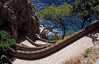 Via Krupp von Augustgärten nach Marina Piccola, erbaut 1902 von Friedrich Alfred Krupp, Capri, Italien..............