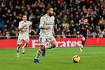 Real Madrid's Dani Carvajal during La Liga match between Real Madrid and Valencia CF at Santiago Bernabeu Stadium in Madrid, Spain. December 01, 2018. (ALTERPHOTOS/A. Perez Meca)