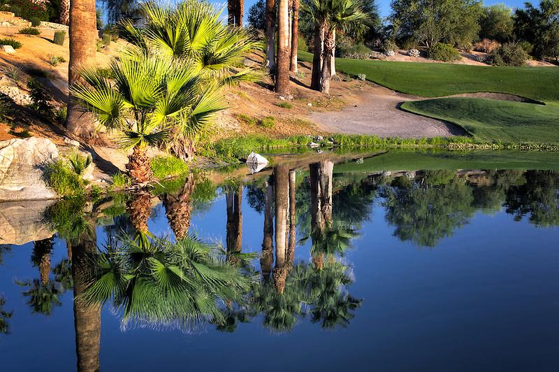 Pond at Desert Willow Golf Resort, Palm Desert, California