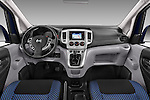 Stock photo of straight dashboard view of a 2014 Nissan Evalia Connect Edition 5 Door Mini MPV 2WD Dashboard
