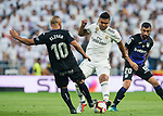 Carlos Henrique Casemiro (R) of Real Madrid fights for the ball with Nabil El Zhar of CD Leganes during the La Liga 2018-19 match between Real Madrid and CD Leganes at Estadio Santiago Bernabeu on September 01 2018 in Madrid, Spain. Photo by Diego Souto / Power Sport Images