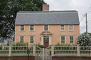 Oracle House at Strawbery Banke in Portsmouth, New Hampshire USA.