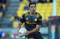 Chiefs' Anton Lienert-Brown in action during the Super Rugby Aotearoa match between the Hurricanes and Chiefs at Sky Stadium in Wellington, New Zealand on Saturday, 20 March 2020. Photo: Dave Lintott / lintottphoto.co.nz