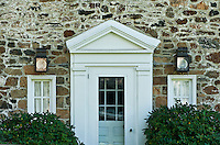 Traditional colonial field stone house.