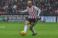 Sheffield United's forward David McGoldrick (17) during the Sky Bet Championship match between Sheff United and Leeds United at Bramall Lane, Sheffield, England on 1 December 2018. Photo by Stephen Buckley / PRiME Media Images.