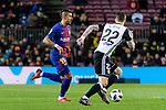 Paulinho Maciel of FC Barcelona (L) fights for the ball with Santiago Mina Lorenzo of Valencia CF (R) during the Copa Del Rey 2017-18 match between FC Barcelona and Valencia CF at Camp Nou Stadium on 01 February 2018 in Barcelona, Spain. Photo by Vicens Gimenez / Power Sport Images