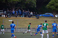 Action from the Central League football match between Wellington Olympic and Wairarapa United at Wakefield Park in Wellington, New Zealand on Saturday, 2 April 2021. Photo: Dave Lintott / lintottphoto.co.nz