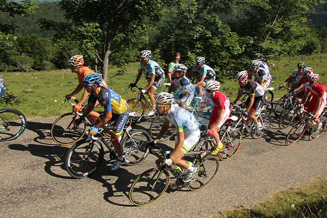Action from Stage 10 Macon - Bellegarde-sur-Valserine during the 99th edition of the Tour de France, 13th July 2012 (Photo by Thomas van Bracht/NEWSFILE)