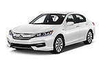 2017 Honda Accord Hybrid 4 Door Sedan Angular Front stock photos of front three quarter view