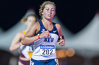 Makenna Smith of BYU competes in 10000 meter semifinal during West Preliminary Track & Field Championships at John McDonnell Field, Thursday, May 29, 2014 in Fayetteville, Ark. (Mo Khursheed/TFV Media via AP Images)