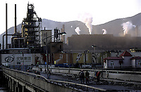 Smog comes out from the factory of Beitai Iron & Steel Group (Beigang Group), China's 5th-largest steelmaker in Benxi, Liaoning province..22 Aug 2005