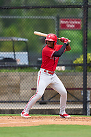 Philadelphia Phillies Jadiel Sanchez (53) bats during an Extended Spring Training game against the New York Yankees on June 22, 2021 at the Carpenter Complex in Clearwater, Florida. (Mike Janes/Four Seam Images)