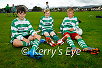 Listowel Celtic U12's attending the soccer blitz in the Park on Saturday, l to r: Mark Heaphy, Mikey Hennigan and Amilis Brazas
