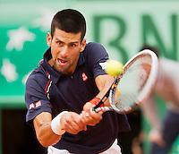 03-06-12, France, Paris, Tennis, Roland Garros,   Novak Djokovic
