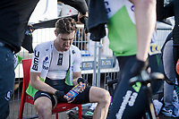 Bernhard 'Bernie' Eisel (AUT/Dimension Data) loving his post-stage Haribos candy<br /> <br /> Stage 7: Nice to Col de Turini (181km)<br /> 77th Paris - Nice 2019 (2.UWT)<br /> <br /> ©kramon