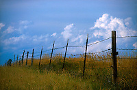Barb wire fence and field<br />