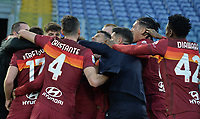 Lorenzo Pellegrini of Roma celebrates after scoring  the 4-3 goal  during the Serie A football match between AS Roma and AC Spezia at Olimpico stadium in Roma (Italy), Jannuary 23th, 2021. Photo Antonietta Baldassarre / Insidefoto
