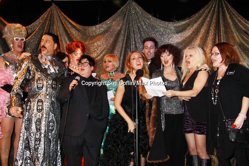 One Life To Live Robin Strasser, Lea Delaria, BethAnn Bonner, Ilene Kristen, Gerald McCullouch (CSI), Gary Cosgrove and Susan Hoffman and many others perform at ICNY (Imperial Court of New York): Daytime Meets Nighttime Cabaret benefitting LifeBeat: Music Fights HIV and Jan Hus Neighborhood Church, two organizations giving back to the community at November 4, 2011 at the Jan Hus Playhouse Theatre, New York City, New York. (Photo by Sue Coflin/Max Photos)