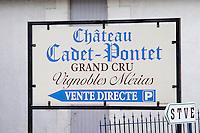chateau cadet pontet saint emilion bordeaux france