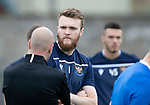 St Johnstone players back for the first day of training at McDiarmid Park in preparation for the 2019-2020 season…25.06.19<br />Pictured keeper Zander Clark talking with goalkeeping coach Paul Mathers<br />Picture by Graeme Hart.<br />Copyright Perthshire Picture Agency<br />Tel: 01738 623350  Mobile: 07990 594431