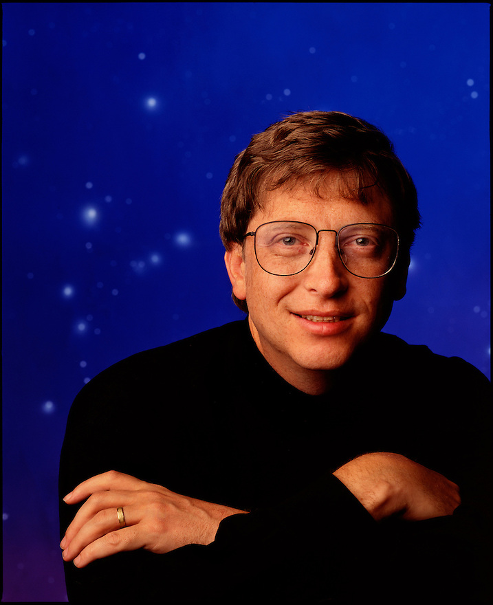 Bill Gates photographed for the cover of Business Week Magazine in Atlanta, Georgia 1984
