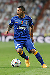 Juventus´s CAerlos Tevez during the Champions League semi final soccer match between Real Madrid and Juventus at Santiago Bernabeu stadium in Madrid, Spain. May 13, 2015. (ALTERPHOTOS/Victor Blanco)