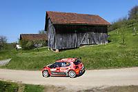 23rd April 2021; Zagreb, Croatia; WRC Rally of Croatia, stages 1-8;  Nicolas Ciamin - Citroen C3 WRC2