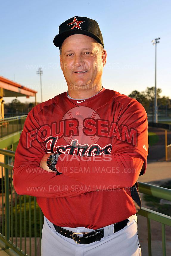 Feb 25, 2010; Kissimmee, FL, USA; The Houston Astros coach Al Pedrique (13) during photoday at Osceola County Stadium. Mandatory Credit: Tomasso De Rosa / Four Seam Images