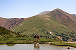 Herman Lake in Indian Peaks Wilderness Area, west of Boulder, Colorado, USA.
