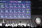 The Giro d'Italia 2015 presentation, Milan, Italy. 6th October 2014. <br /> Photo:Fabio Ferrari/LaPresse/www.newsfile.ie