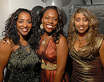 Sharon Spencer, Crystal Webster and Jonita Reynolds at the NAACP's Hollywood Comes to Houston party at Advantage BMW Thursday  Feb. 12, 2009.(Dave Rossman/For the Chronicle)
