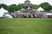 The Steeplethon field passes the tower at Great Meadow.