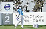 SUZHOU, CHINA - APRIL 16:  Thongchai Jaidee of Thailand tees off on the 2nd hole during the Round Two of the Volvo China Open on April 16, 2010 in Suzhou, China. Photo by Victor Fraile / The Power of Sport Images