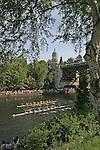 Seattle, Rowing, Windermere Cup, Regatta, Opening Day of Rowing Season, Pacific Northwest, Washington state, USA, Masters women rowers: Lake Washington Rowing Club leads Lake Union Crew, .