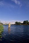 Fly fishing the Bighorn River, Idaho