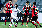 Auckland City Forward Micah Lea'alafa (l) during an attack of Auckland during the 2017 Lunar New Year Cup match between Auckland City FC (NZL) and FC Seoul ((KOR) on January 28, 2017 in Hong Kong, Hong Kong. Photo by Marcio Rodrigo Machado/Power Sport Images