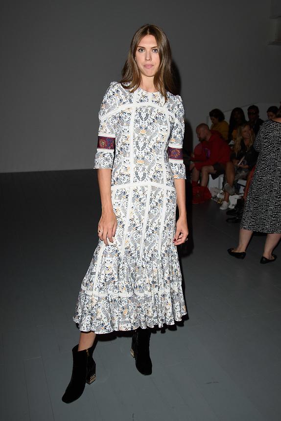 Lady Sabrina Percy<br /> front row at the Bora Aksu London Fashion Week SS18 catwalk show, London<br /> <br /> ©Ash Knotek  D3431  14/09/2018